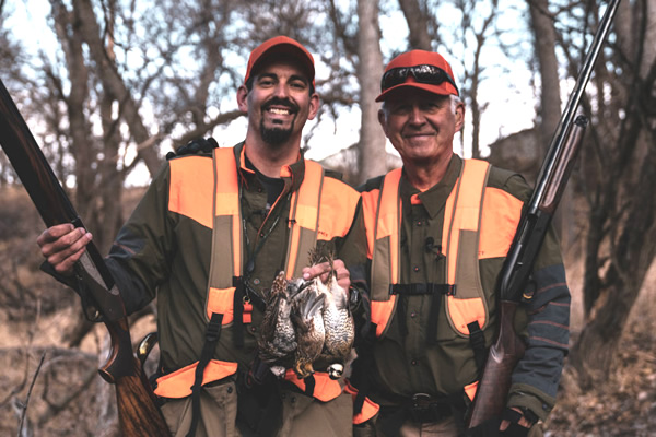 Mark Peterson and father Earl hunt Northern Bobwhite Quail