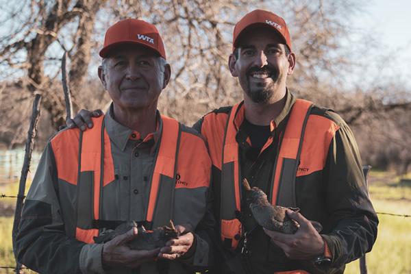 Mark & Earl Peterson with Elegant Quail