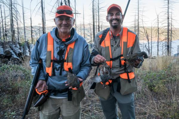 Mark & Earl Peterson hunt Mountain Quail