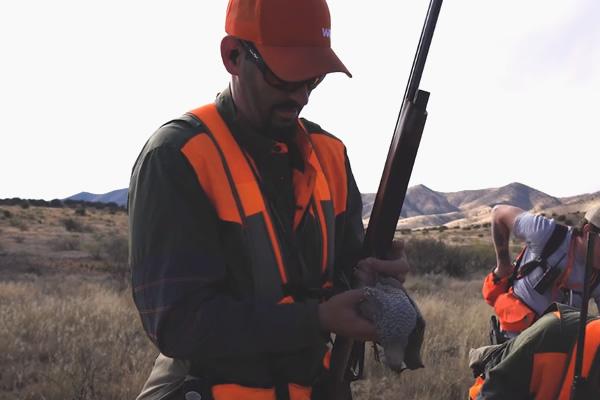 Mark Peterson hunting Scaled Quail in Arizona